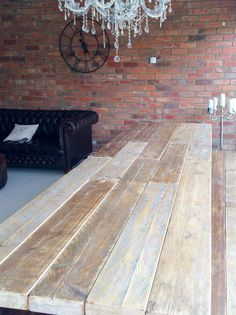 Industrial Style Scaffold Banquet/Boardroom Table