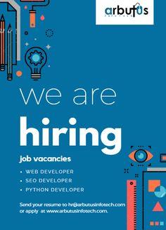 Job Vacanies Event Poster Design, Creative Poster Design, Creative Posters, Creative Jobs, Creative Flyers, We Are Hiring, Jobs Hiring, Hiring Poster, Fashion Website Design