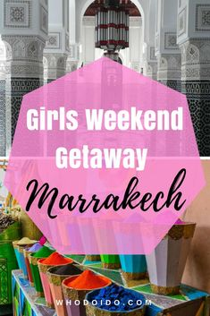 Marrakech: My Hen Weekend – Whodoido: Looking for a sophisticated hen abroad? Consider Marrakech … very affordable, hours of sunshine, tasty food, shopping in the souks and relax in the spas. Marrakech Travel, Morocco Travel, Marrakech Morocco, Africa Travel, Best Travel Guides, Travel Tips, Romantic Destinations, Travel Destinations, Weekend City Breaks