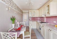 Как оформить небольшую кухню в стиле прованс: пример в Измайлово | Свежие идеи дизайна интерьеров, декора, архитектуры на InMyRoom.ru