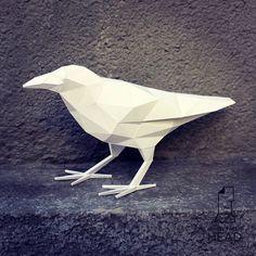 Papercraft raven printable DIY template