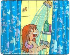 quenalbertini: Under the shower by kilikina Sequencing Pictures, Sequencing Activities, Path Ideas, Story Prompts, Picture Description, Album, Teaching Spanish, Speech Therapy, Clip Art