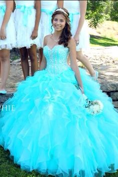 dress jewels sparkles aqua prom dress long dress poofy
