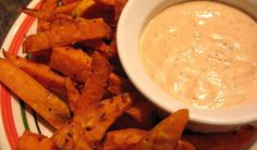 Sweet Potato Oven Fries With Spicy Chipotle Dip Recipe