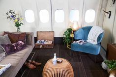 Converted plane AirBnB in Amsterdam