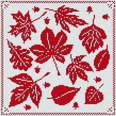 Free embroidery/cross stitch patterns-could use for filet crochet or fair isle