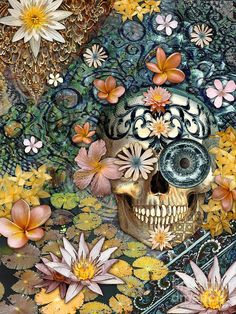 Bali Botaniskull - Floral Sugar Skull Art Print by Christopher Beikmann.  All prints are professionally printed, packaged, and shipped within 3 - 4 business days. Choose from multiple sizes and hundreds of frame and mat options.