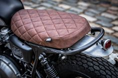 Cafe racer seat leather