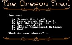 So you can now play Oregon Trail online... for free! Awesome! Many childhood memories brought back!!!