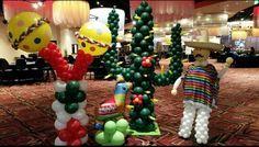 Cinco de Mayo maracas cactus person all made of balloons