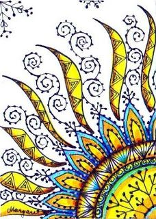 doodles of the sun to color Tangle Doodle, Doodles Zentangles, Zen Doodle, Zentangle Patterns, Doodle Art, Art Aquarelle, Good Day Sunshine, Sun Art, Doodle Drawings