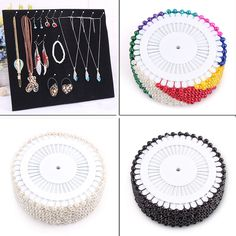 Hook Suede Display Board for Necklace Bracelet Chain Earring Plate Jewelry Stand | eBay