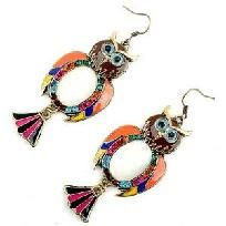 OwlMulticolored White jewel Multi Crystal Earrings.   Made of alloy Crystals and fish hook earrings.    Every piece is brand new and made with the highest quality materials.  Thank you for taking the time to look at my yard sale.  Good Luck and Happy...