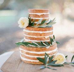 """Beautiful """"naked"""" cake"""