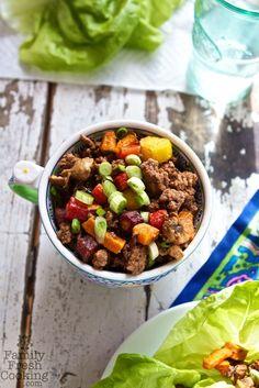 Thai Beef Lettuce Wraps Recipe   MarlaMeridith.com