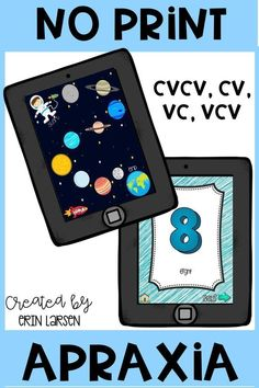 Apraxia resource for your computer or iPad. Easy, no prep, interactive, and engaging speech therapy resource! Click through apraxia flashcards and interactive games. Also great for your articulation clients! CVCV, CV, VC, and VCV included.