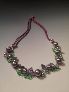 Free instructions for The Freya Necklace - http://www.beadshopscotland.co.uk/free-projects/free-freya-necklace-instructions