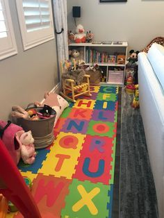 Simple Diy Organization Ideas For Small Spaces Playrooms In 2021 Living Room Playroom Baby Play Areas Baby Playroom
