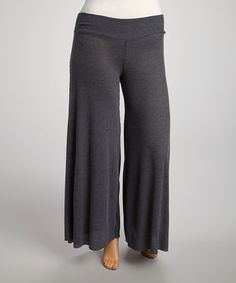 Love this Heather Charcoal Palazzo Pants - Plus by Poliana Plus on #zulily! #zulilyfinds