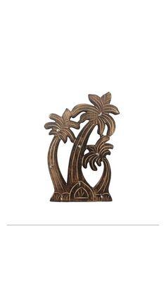 Wooden Handmade Coconut Tree Key Holder