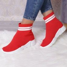 ADIDASI GEA RED Girls Shoes, Socks, Adidas, Red, Fashion, Moda, Fashion Styles, Sock, Stockings