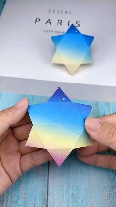 Cajita estrella Cool Paper Crafts, Paper Crafts Origami, Diy Crafts For Gifts, Diy Arts And Crafts, Creative Crafts, Diy Paper, Fun Crafts, Paper Art, Summer Crafts