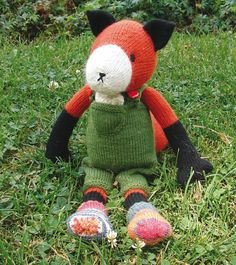 Farmer Fox Stuffed Toy KNITTED PDF PATTERN by BagpussandFriends, £3.50
