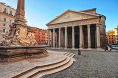 O Panteão é a única construção do período greco-romano que continua intacta.