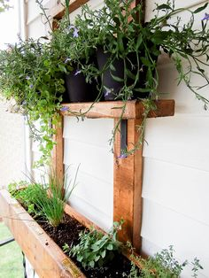DIY Vertical Herb Garden And Planter (2x4 Challenge)