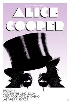 """poster design 24 X 35  """"Alice Cooper"""" for John Varvatos  © Scarlet Rowe Image & Design #alicecooper #johnvarvatos #hardrockhotel #hardrockvegas #scarletrowe"""