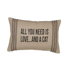 All you need is #love and a #cat pillow