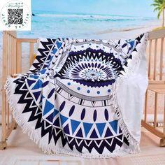 Mode Bronzer De Plage Ronde Towel Grand Microfibre Imprimé Yoga Towel Avec Gland Serviette De Plage Fudiya Cercle Playa châle