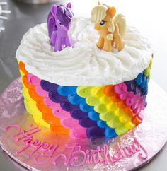 Inspiration Image Of Toddler Girl Birthday Cakes My Little Pony Cake 178 Kids In