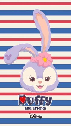 Kawaii Wallpaper, Disney Wallpaper, Iphone Wallpaper, Duffy The Disney Bear, Disney Cookies, Sanrio, Chibi, Bunny, Cartoon