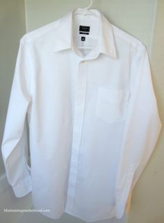 How to Iron a Dress Shirt Like a Professional – Maintaining Motherhood How To Iron Clothes, Diy Clothes, Sew Kind Of Wonderful, Dry Cleaning, Dress Shirt, Chef Jackets, Mens Fashion, Money, Big