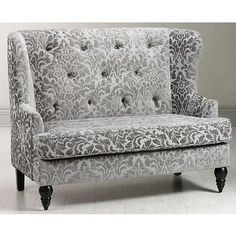 "Lainey Tufted Settee 42.5""""Hx54""""W Grey Jacquard"" by Home Decorators Collection $569"