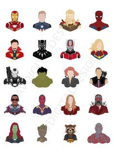 Marvel Avengers, Avengers Movies, Marvel Heroes, Marvel Movies, Avengers Painting, Marvel Wall Art, Disney Minimalist, Marvel Paintings, Marvel Tattoos