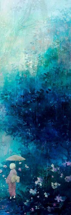 #blue (love the artist's background)