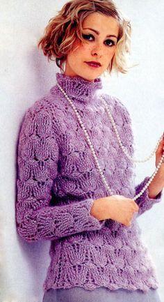 Пуловер «Лиловый шарм»