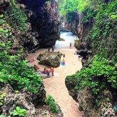 destination: Tag Your Friends Suluban Beach Bali Photo by Bali Lombok, Canggu Bali, Places Around The World, Travel Around The World, Around The Worlds, Places To Travel, Places To See, Bali Holidays, Bali Indonesia