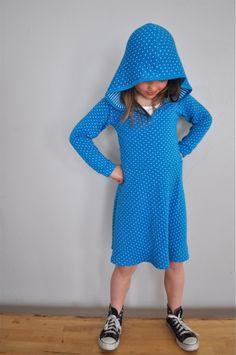 hooded skater dress // elsie marley