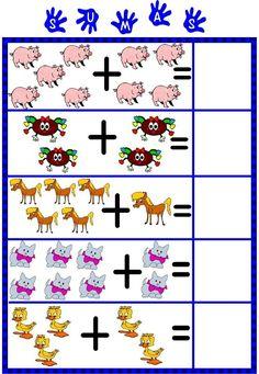 View album on Yandex. Kindergarten Math Worksheets, Preschool Math, In Kindergarten, Writing Worksheets, Math Games, Preschool Activities, Math Subtraction, Math Addition, Math For Kids
