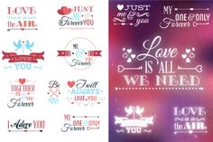 Typographic Love Set by Creative Toons
