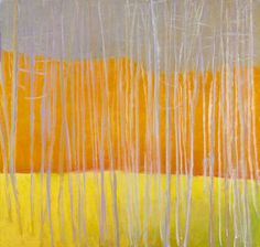 Wolf Kahn, Gray, Orange and Yellow, Oil on Canvas, 2006