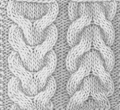 Love cable and cable variations - this is how to knit a double cable or horseshoe cable.
