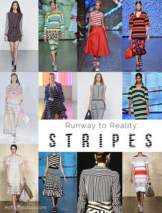 Runway to Reality // S T R I P E S  An affordable way to style those stripes on estaafiestaa.com today!!