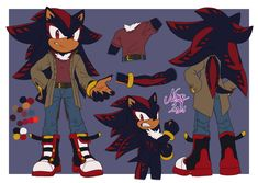 Good Motivation, Shadow The Hedgehog, Stripes, Concept, Fan Art, Deviantart, Drawings, Artist, Anime
