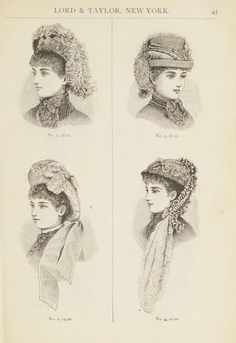 Catalogue : Spring and Summer : of silks, dress goods, cloths, millinery (etc.). 1882. Metropolitan Museum of Art (New York, N.Y.). Thomas J. Watson Library. Trade catalogs.  #springtime #hats | Springtime means new hats for everyone!