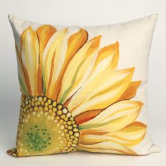 Sewing Pillows Liora Manne Outdoor Throw Pillow Collection in Sunflower Yellow Yellow Throw Pillows, Outdoor Throw Pillows, Accent Pillows, Decorative Throw Pillows, Outdoor Cushions, Toss Pillows, Outdoor Rugs, Main Image, Sewing Pillows
