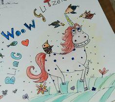 Stolzer Einhorn. Illustration von www.rauschsinnig.de #unicorn #einhorn #illustration #watercolour #aquarellzeichnjng